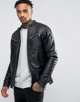 G Star G-Star Mower Leather Jacket