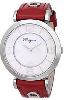 Salvatore Ferragamo Women's FG3010014 GANCINO DECO Stainless Steel Watch with Red Patent Leather Band