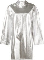 Awake mock metallic silver tunic