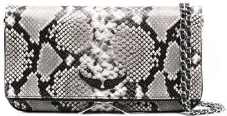 Zadig & Voltaire Rock Wild python-effect print clutch