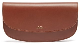 A.P.C. Geneve Leather Wallet - Womens - Tan
