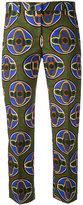Aspesi cropped printed trousers - women - Cotton - 44