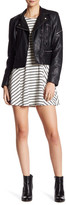 Lush 3/4 Length Sleeve Striped Dress