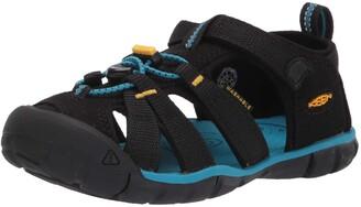 Keen Seacamp 2 CNX Closed Toe Sandal Black Yeallow 12 US Unisex Little Kid