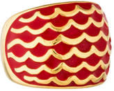 Just Cavalli Enameled Wave Dome Ring