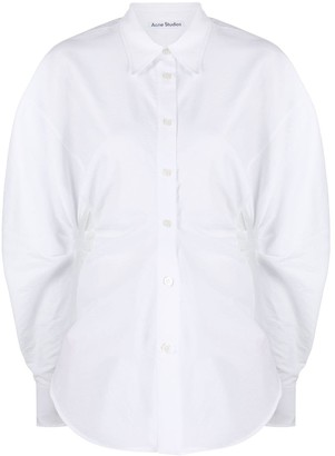 Acne Studios Balloon Sleeve Shirred Shirt