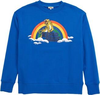Kenzo Tiger Rainbow Logo Graphic Sweatshirt