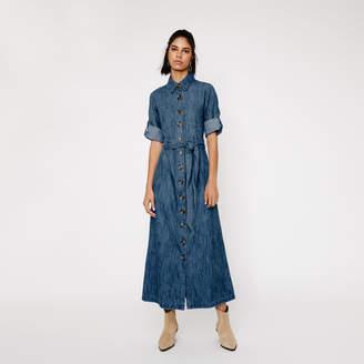 Warehouse DENIM MAXI SHIRT DRESS