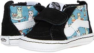 Vans Kids SK8-Hi Crib (Infant/Toddler) ((Llamas) Orchid/True White) Girl's Shoes