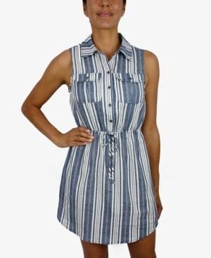 BeBop Juniors' Striped Shirtdress
