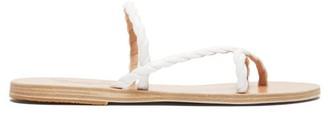 Ancient Greek Sandals Mahi Braided Leather Sandal - White
