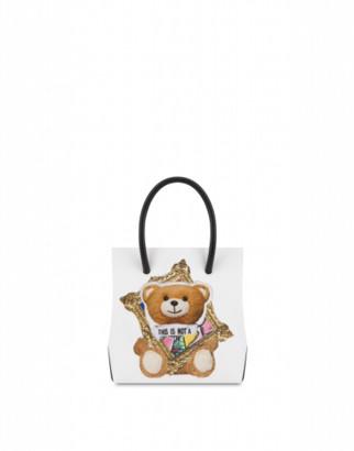 Moschino Frame Teddy Bear Handbag Woman White Size U It - (one Size Us)