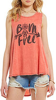 Rossmore by PPLA Born Free Graphic High-Low Swing Tank Top
