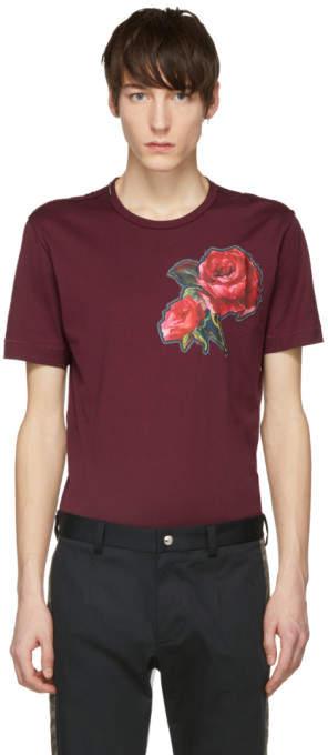 Dolce & Gabbana Red Flower T-Shirt