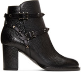 Valentino Garavani Valentino Black 'Rockstud Noir' Boots