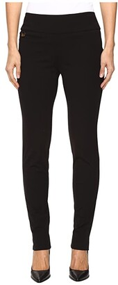 Lisette L Montreal Kathryne Fabric Slim Pants (Black) Women's Dress Pants