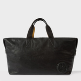 Paul Smith Men's Black Calf Leather Contrast Handle Holdall