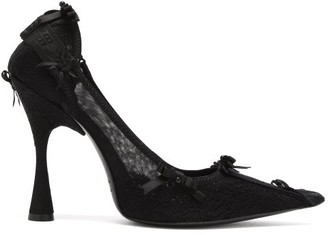 Balenciaga Lingerie Lace Pumps - Black