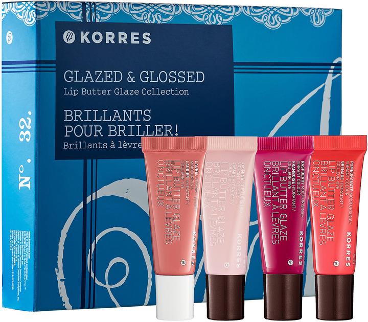 Korres Glazed & Glossed Lip Butter Glaze Collection