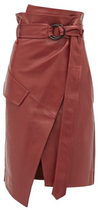 Petar Petrov Rita High-rise Leather Skirt - Burgundy