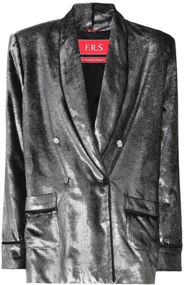 F.R.S For Restless Sleepers Ate II metallic silk-blend blazer