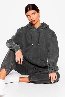 Nasty Gal Womens Get Your Sweat On Oversized Hoodie - Grey - L