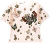 Valentino Mariposa Garden mesh top