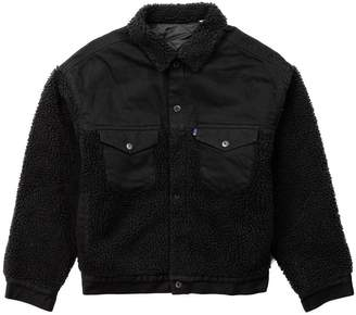 Levi's Made & Crafted Oversized Sherpa Trucker Jacket Black