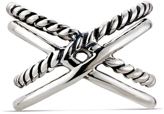 Samuel B. Streling Silver Double Criss-Cross Ring