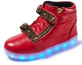 VENSHINE Girls & Boys Light Up Shoes High Top 8 Colors Kids LED Flashing Children Sneakers