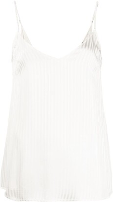 FEDERICA TOSI striped V-back top