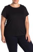 Catherine Malandrino Short Sleeve Crew Neck T-Shirt (Plus Size)