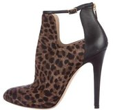 Jimmy Choo Ponyhair Round-Toe Booties
