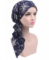 Westow Chemo Fashion Scarf Easy Tie Padded Cotton Lined Turban Hat Headwear for Cancer