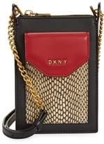 DKNY Logo Leather Crossbody Bag