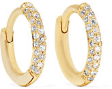 Jennifer Meyer Huggie 18-karat Gold Diamond Hoop Earrings - one size