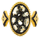 Freida Rothman Pebbled Oval CZ Stones Ring