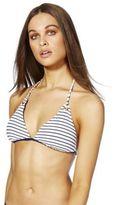 F&F Reversible Striped Triangle Bikini Top, Women's