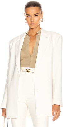 GRLFRND Power Blazer in White | FWRD