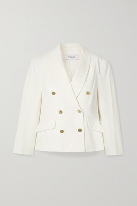 Derek Lam 10 Crosby Myra Double-breasted Cotton-blend Crepe Blazer