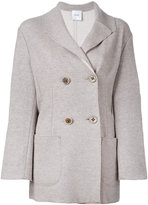 Agnona double breasted jacket - women - Polyamide/Cashmere - 48