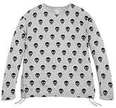 Flowers by Zoe Girls' Skull-Print Long-Sleeve Tee - Big Kid