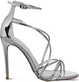 Office Angel metallic heeled sandals