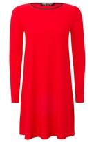 Select Fashion Fashion Womens Red Crepe Ls Swing Dress - size 6