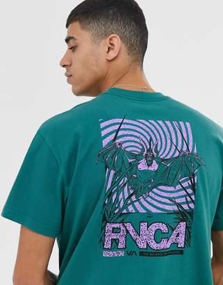 RVCA Vampire Bat printed t-shirt in green