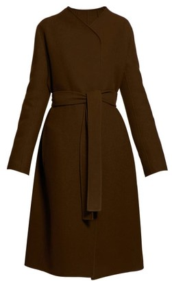 The Row Terin Belted Wool-blend Coat - Womens - Green