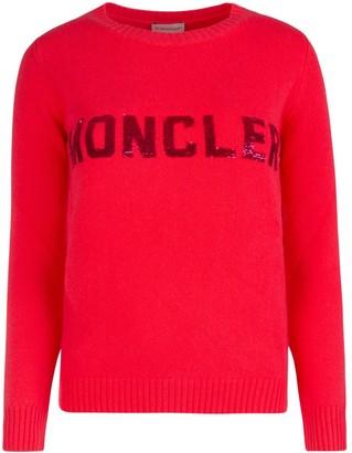 Moncler Logo Sequinned Crewneck Sweatshirt