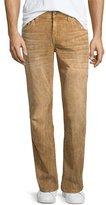 True Religion Geno Straight-Leg Corduroy Pants, Taupe