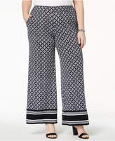 MICHAEL Michael Kors Size Printed Wide-Leg Pants