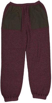Fendi Purple Cashmere Trousers